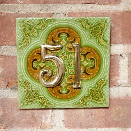 39 Best Images About Creative House Numbers On Pinterest Glazed Ceramic License