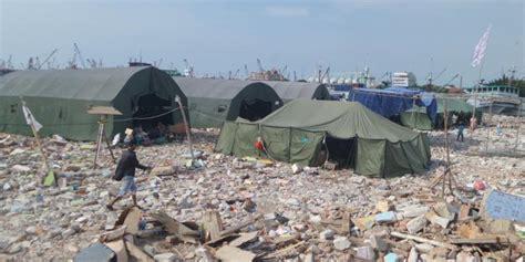 Tenda Anak Bekas prabowo sumbang tenda besar di lahan bekas pasar ikan