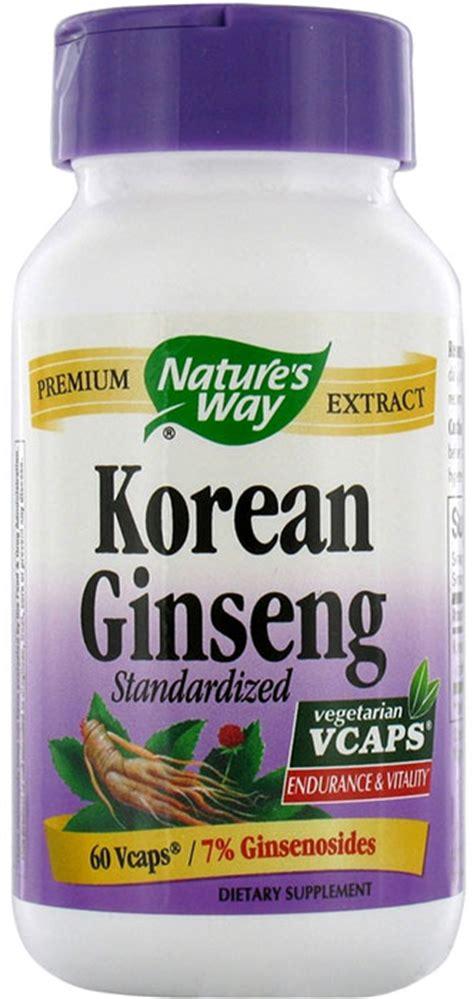 Korean Ginseng Nature S Health nature s way standardized korean ginseng 60 capsules