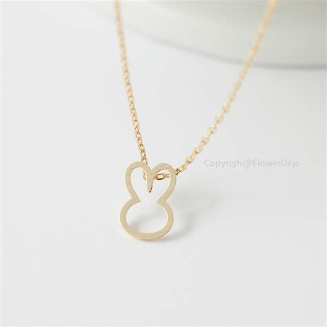 bunny necklace in gold bunny rabbit on luulla