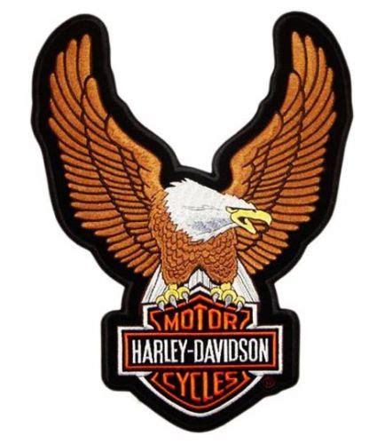 Aqila Maxy maxi toppa patch aquila eagle 24x34 cm brown harley