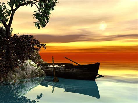 serene background serene rowboat setting wallpaper free hd