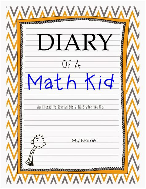 printable math journal cover once upon a creative classroom friday flash freebie and