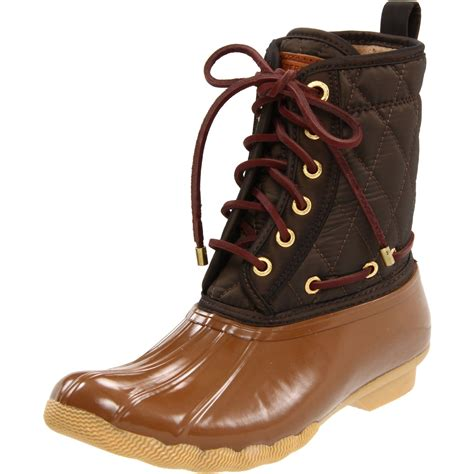 sperry top sider womens shearwater ankle boot in brown