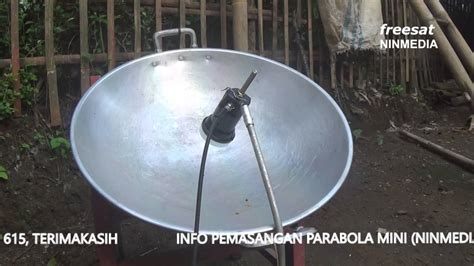 Jual Antena Parabola parabola menggunakan wajan ninmedia
