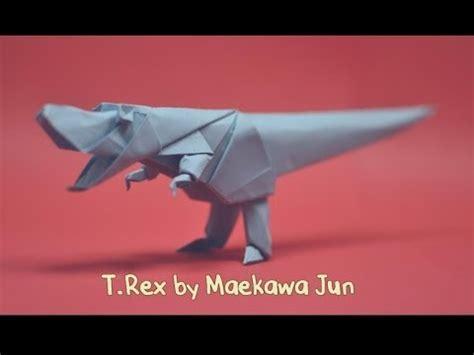 tutorial origami t rex 58 origami tyrannosaurus rex by maekawa jun yakomoga