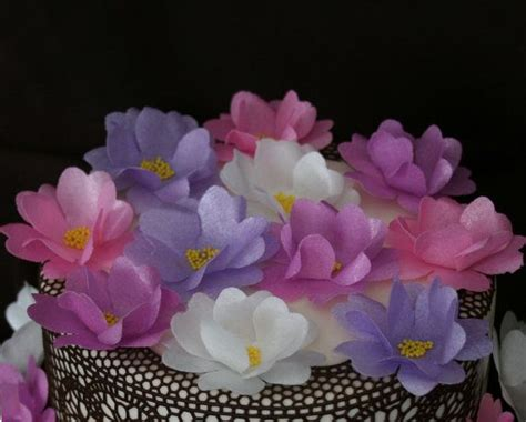 How To Make Rice Paper Flowers - 489 best wafer paper flowers papel arroz images on