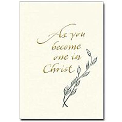 Congratulations On Your Wedding Bible Verses by As You Become One In Wedding Congratulations Card