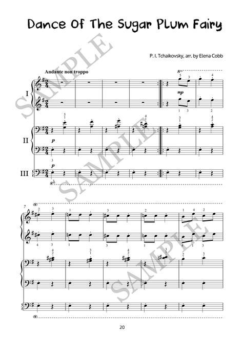 dance of the sugar plum fairies dance of the sugar plum fairy piano trio arrangement