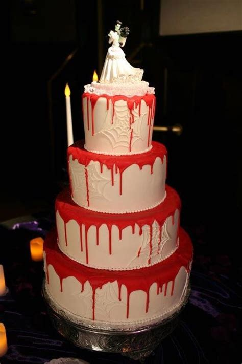 original halloween wedding cakes weddingomania