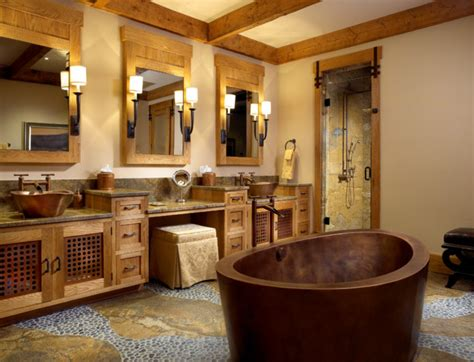 Cabin Badezimmer Vanity by The Mountain Bath Rustic Bathroom Miami By Zabala