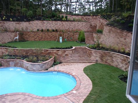 backyard wall custom retaining walls garden walls seat walls