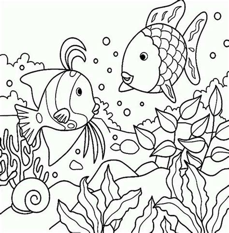 fish coloring page with scales fish in the pond colouring page picolour