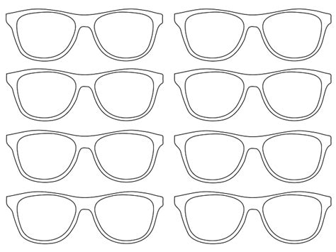 glasses template sunglasses template