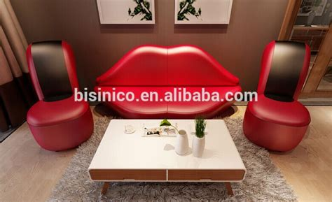 bisini creative red lip  high heel shape sofa set  living roommodern  fashionable