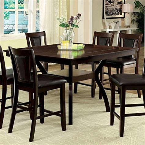 9pc dining room set 247shopathome idf 3984w pt 9pc dining room 9 piece set