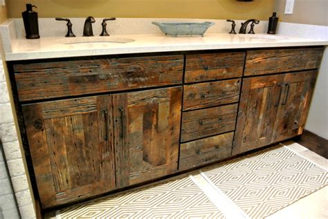 reclaimed wood bathroom cabinets stylish reclaimed wood bathroom vanity home design