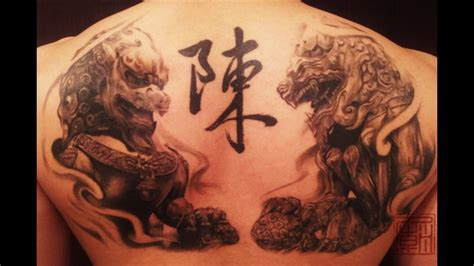 chinese dog tattoos designs 37 foo tattoos on back