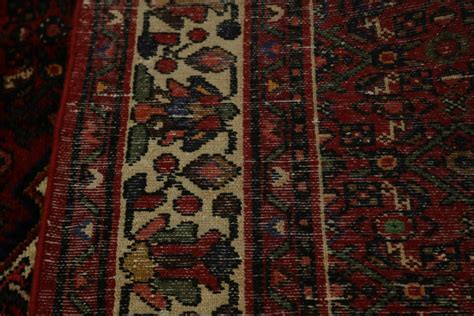 tribal large  burgundy hossainabad hand knotted living