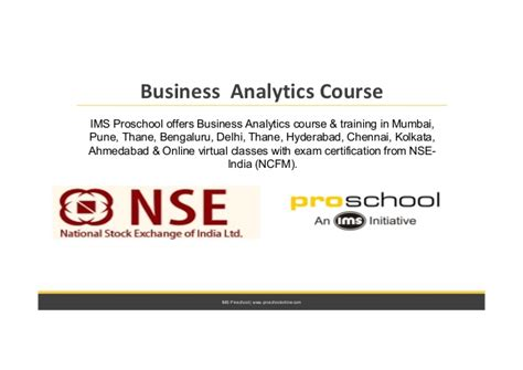 Http Mba Uncc Edu About Certificates Business Analytics business analytics course with nse india certification