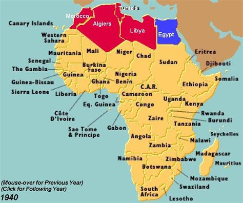africa map 1940 1940 in africa