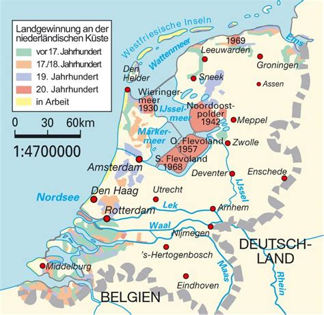 netherlands map reclaimed land map of the netherlands land reclamation netherlands