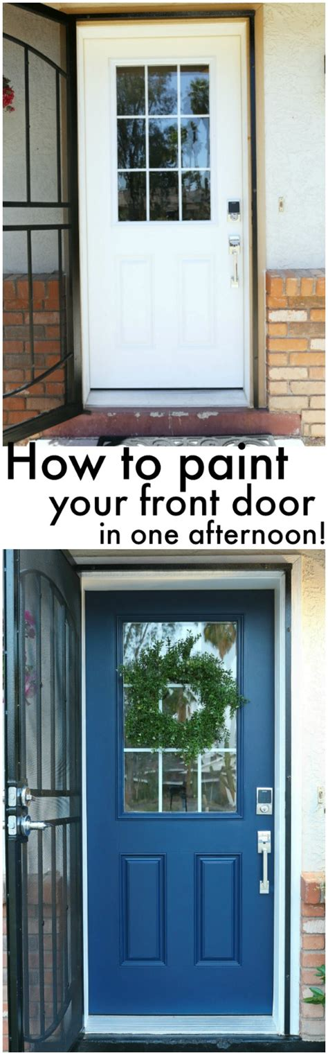 how to paint a front door without removing it how to paint a front door without removing it classy