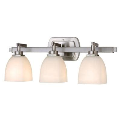 home depot bathroom light bars world imports galway bath collection 3 light satin nickel