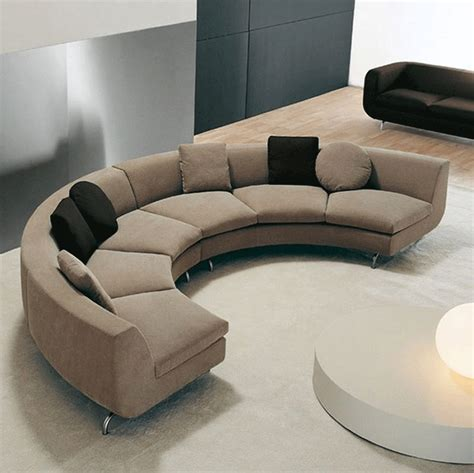 half circle sectional sofa small sectional sofa half curved modern brown