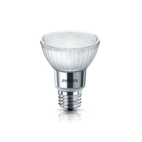Bright White Led Light Bulbs Philips 50w Equivalent Bright White Par20 Glass Led Light Bulb 471169 The Home Depot