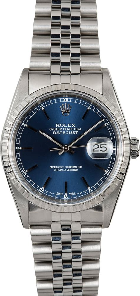 Rolex Steel Datejust rolex oyster perpetual datejust 16220 steel