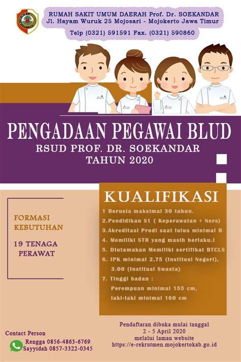 lowongan kerja lowongan kerja rsud prof dr soekandar