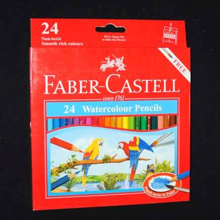 Pensil Warna Faber Castell 24 Warna Watercolor Per 36 Set pensil warna faber castell watercolour 24