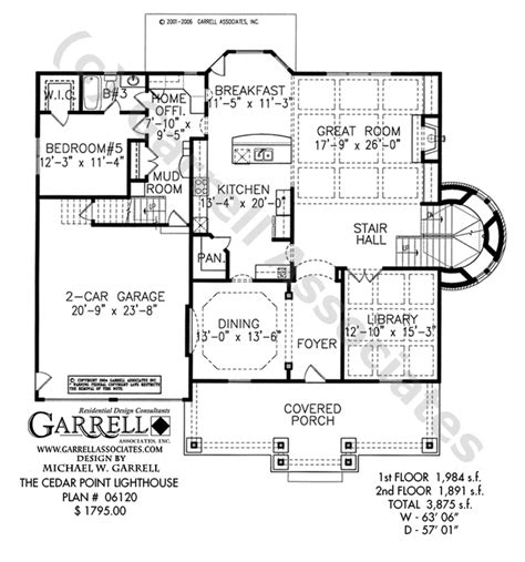 lighthouse floor plans cedar point lighthouse plan house plans by garrell