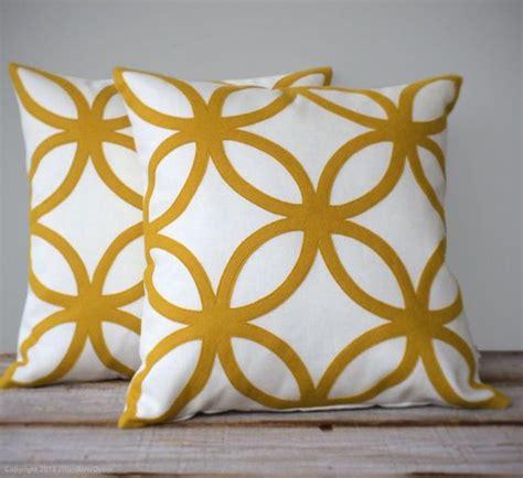mustard yellow home decor mustard yellow geometric decorative pillow cover mod
