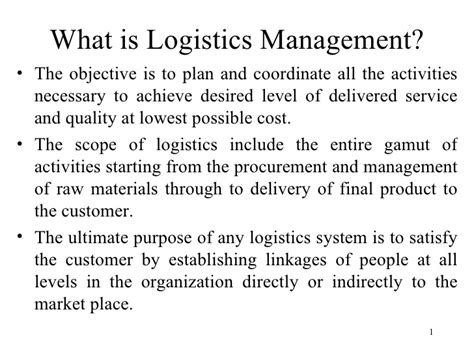 Mba Logistics Scope by Supply Chain Management Scope Best Chain 2018
