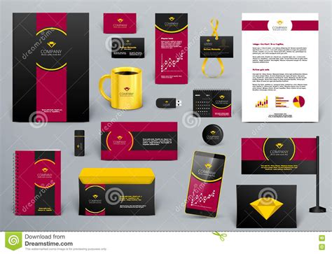 branding kit template branding design kit for jewelry shop hotel or cafe stock
