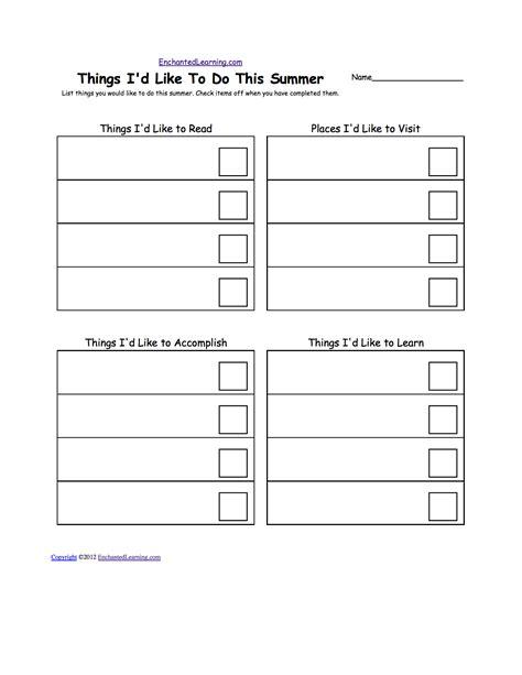 information desk sign crossword checklists printable worksheets enchantedlearning com
