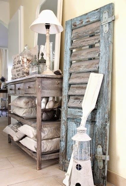 charming coastal interior decorating  shutters