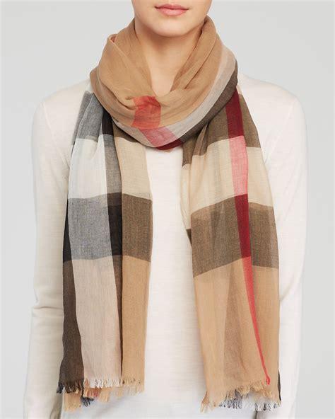 burberry sheer mega check scarf bloomingdale s