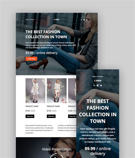 Best Mailchimp Templates To Level Up Your Business Email Newsletter Themekeeper Com Mailchimp New Year Template
