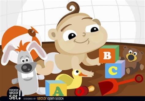 juguetes bebe feliz beb 233 feliz con los juguetes descargar vectores gratis