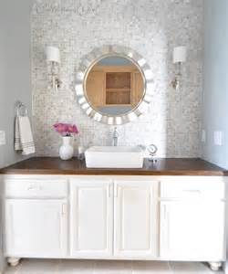 bathroom vanity backsplash height love the idea of tiling a whole wall behind a vanity with