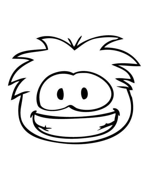 smiling puffle coloring page h m coloring pages