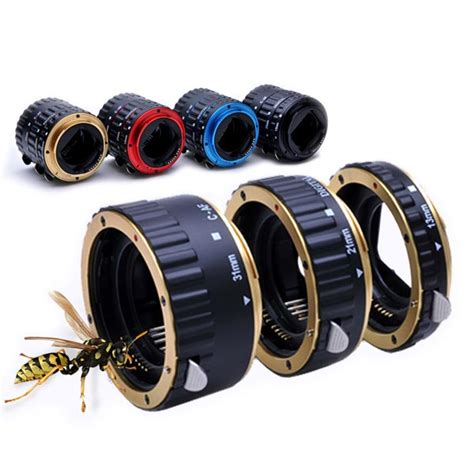 Macro Extension colorful metal af macro extension ring for canon eos ef ef s sale banggood