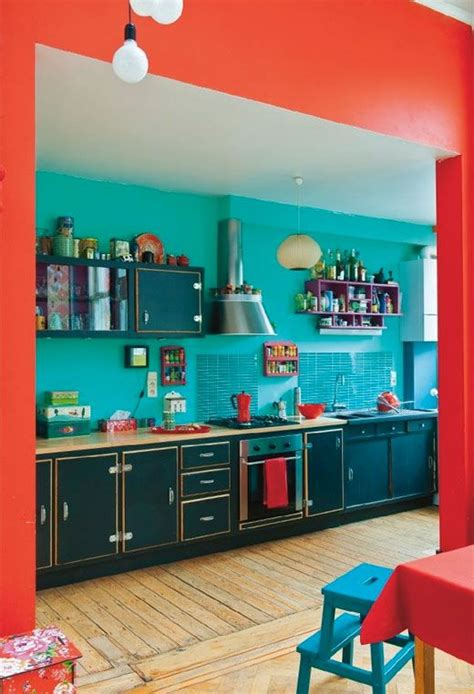 orange and teal kitchen ideas quicua com