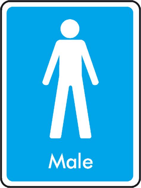 male and female bathroom signs male toilet sign with text