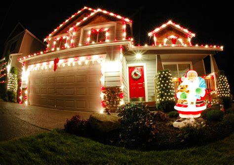 christmas decoration outside home 50 best outdoor christmas decorations for 2017