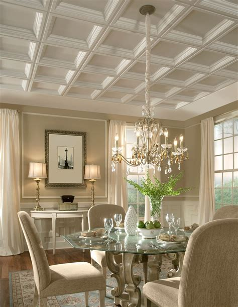dining room coffered ceiling inspiration armstrong design a room interior for modern