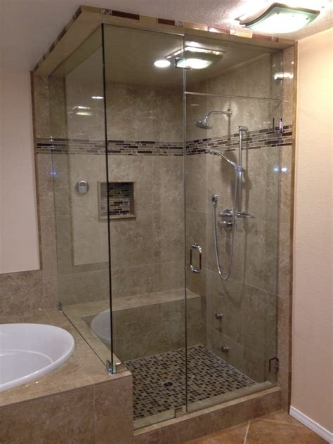 Steam Shower Custom Frameless Steam Shower Enclosure Yelp